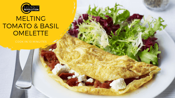Melting Tomato and Basil Omelette Recipe