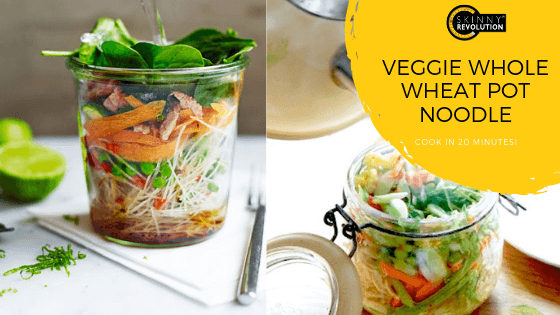 Veggie Whole Wheat Pot Noodle (Easy Lunch) Recipe