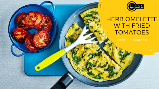 Herb Omelette with Fried Tomatoes Recipe